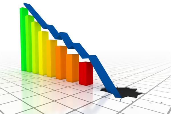 Caida economía grafico