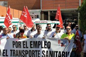 Movilizaciones del transporte sanitario en Ciudad Real