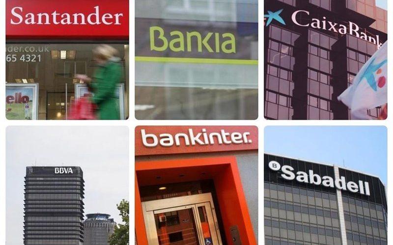 Logotipos de diferentes entidades bancarias