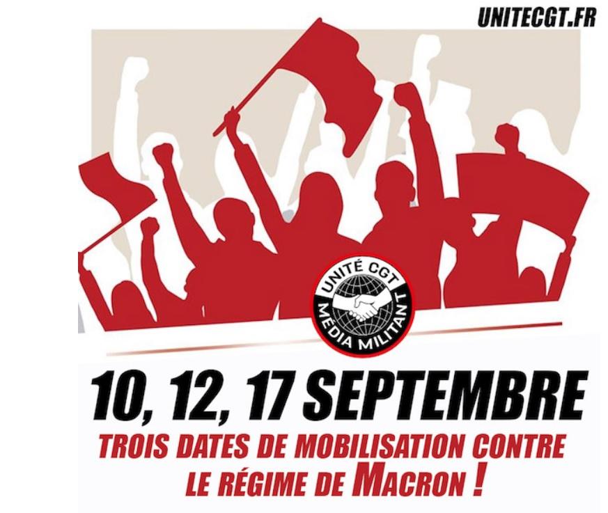 Unite, movilizaciones en Francia