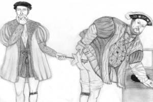 El vasallo limpia el culo de Enrique VIII