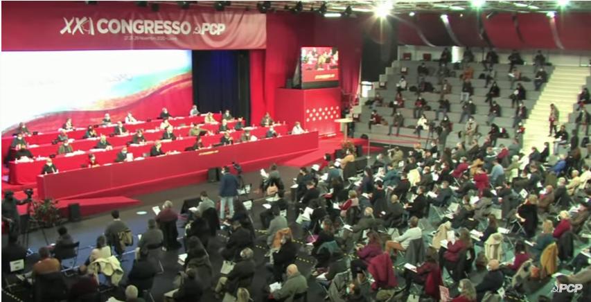 Primera sesión del XXI Congreso del PCP