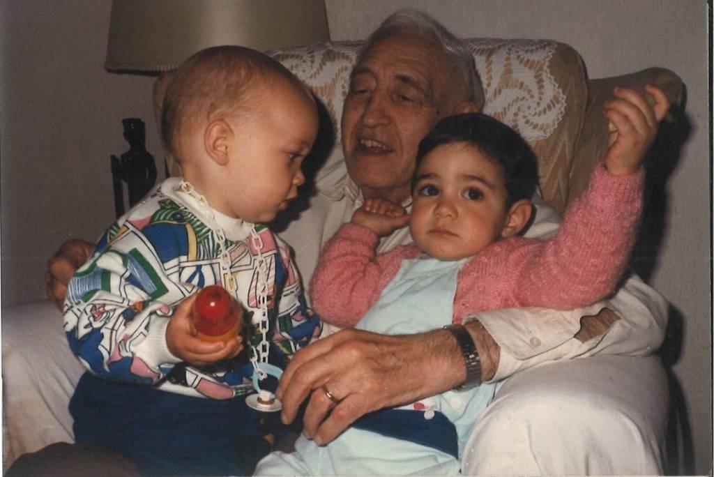 En su domicilio madrileño, en 1987