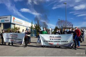 Los trabajadores de Siemens-Gamesa reclaman la intervención del Gobierno Central. Fuente: La Cerca 17.02.2021