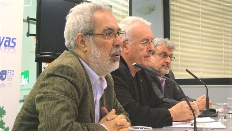 """""""Garcia Rubio y Cayo Lara de la canditura La Izquierda Necesaria""""  Fuente: Europapress 20.01.21"""
