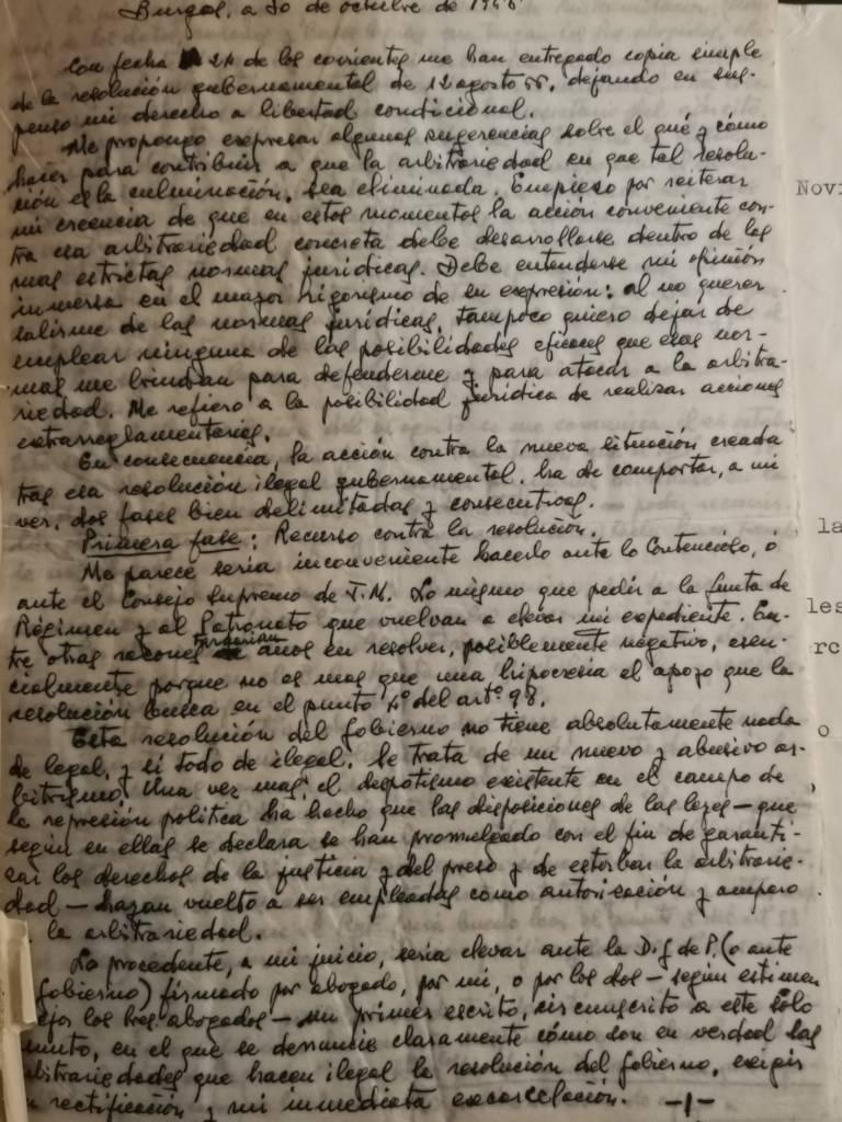 Manuscrito de Pepe Satué.