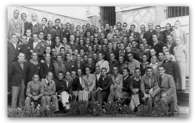 Presos políticos en la Prisión Central de Burgos.