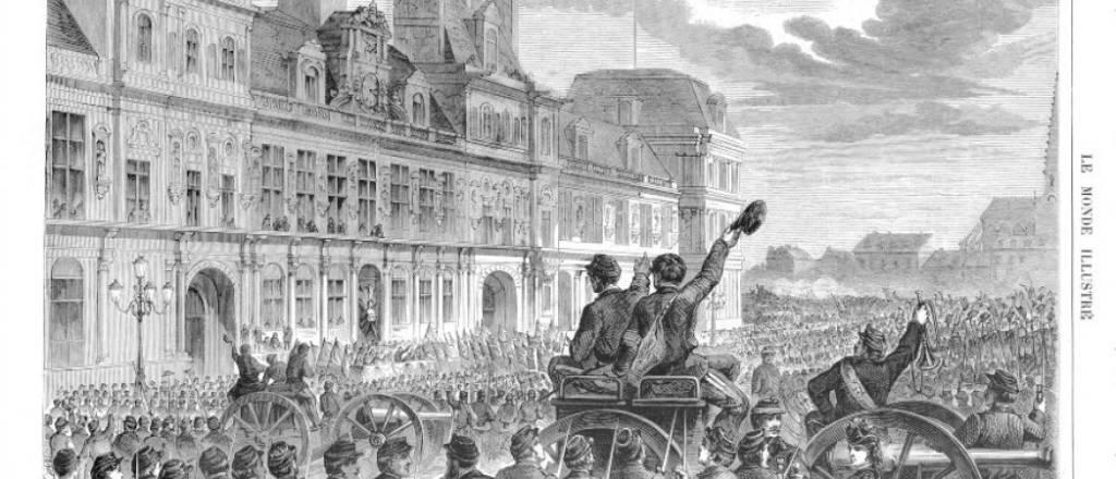 Sede del Ayuntamiento y de la Comuna de París. Fuente: https://parislightsup.com/2020/05/28/memoires-de-la-commune-de-1871-dans-lest-parisien/