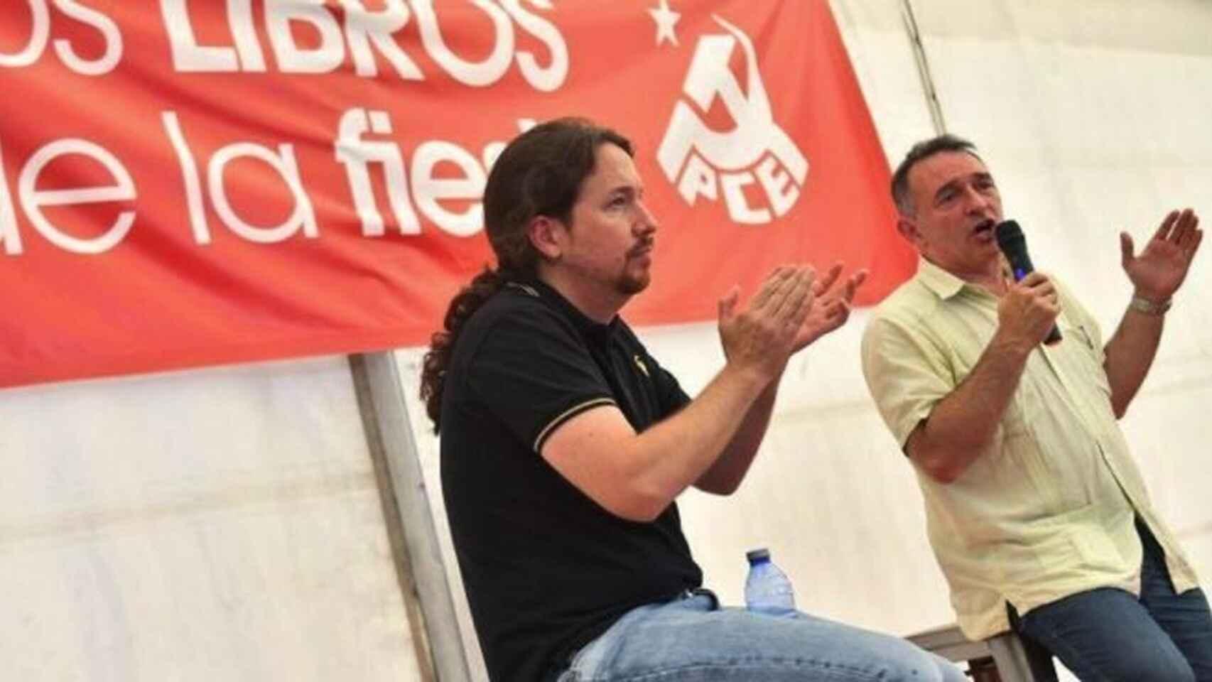 Pablo Iglesias y Enrique Santiago