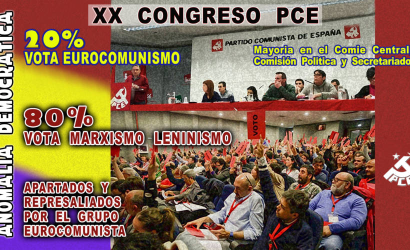 Ilustración XX Congreso PCE. Autor Fernando Francisco Serrano