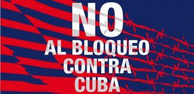 No al bloqueo contra Cuba. Fuente Cubainformacion