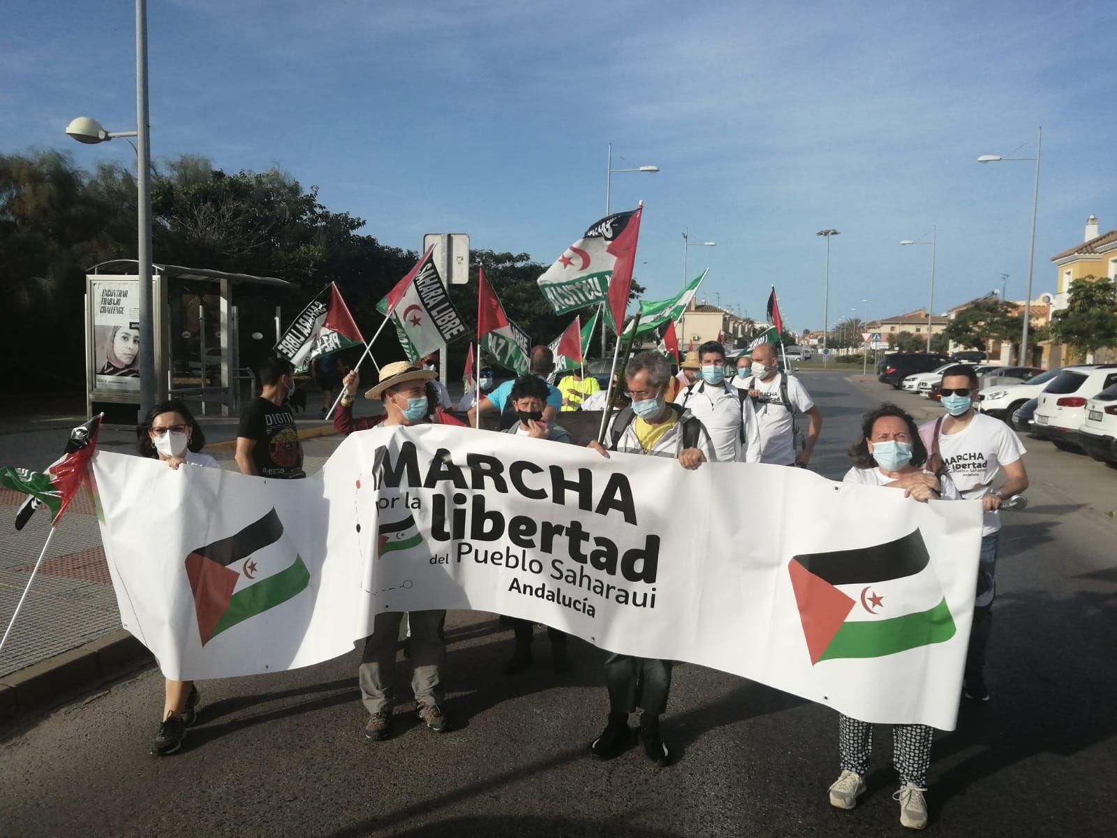 Marcha por la Libertad llegando a Rota