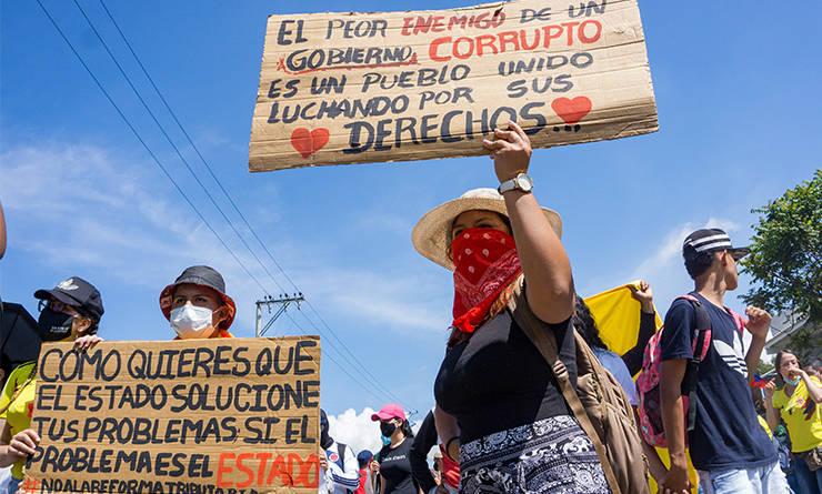 Movilización social en Cali, Valle del Cauca.