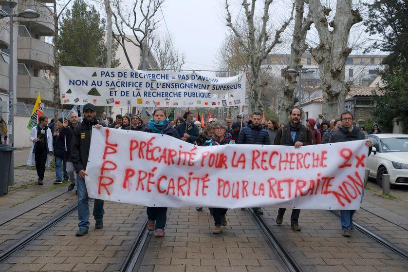 Movilizaciones contra la nueva ley de investigación en Francia. Fuente: France Culture