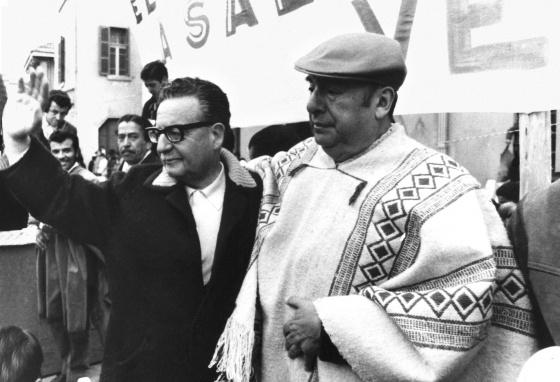 Allende y Neruda. Fuente: El País 14.12.14