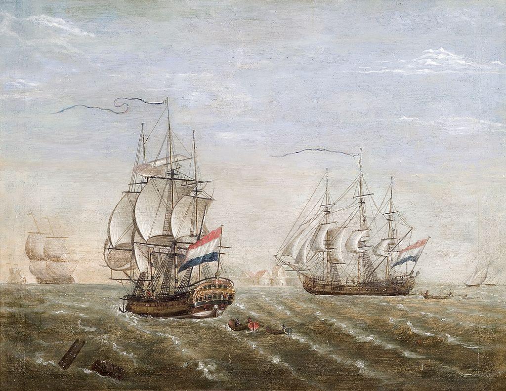 Barcos de la Compañia Neerlandesa de las Indias Orientales. Fuente: Wikipedia
