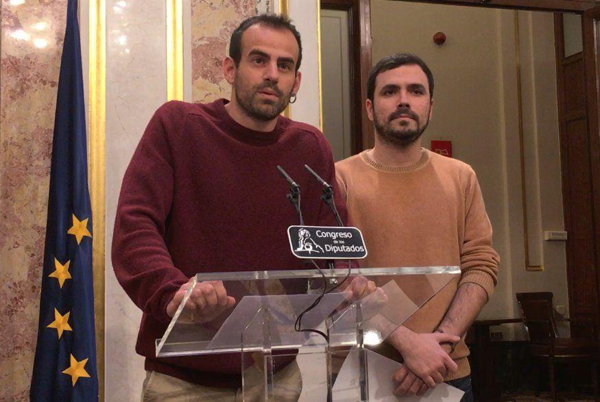 Miguel Bustamante y Alberto Garzón. Fuente: PCA, 26.02.19