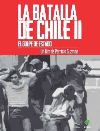 """Póster de la película """"La batalla de Chile: la lucha de un pueblo sin armas, segunda parte: el golpe de estado"""""""
