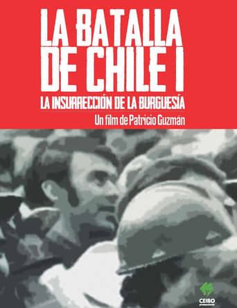 """Póster de la película """"La batalla de Chile: la lucha de un pueblo sin armas, primera parte: la insurrección de la burguesía"""""""