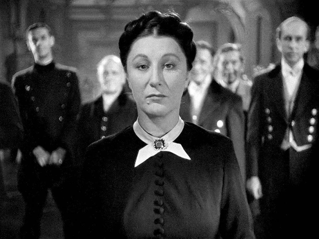 """""""Judith Anderson en el papel de la Sra. Dambers, ama de llaves"""" Fuente: Tiempo de cine, 22.03.20"""
