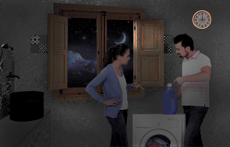 """""""Una pareja intenta reducir la factura de la luz"""". Autor: Fernando Francisco Serrano"""